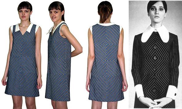 Вытачки на спинке платье