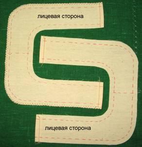 пошив накладного кармана