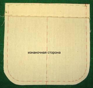 накладной карман пошив