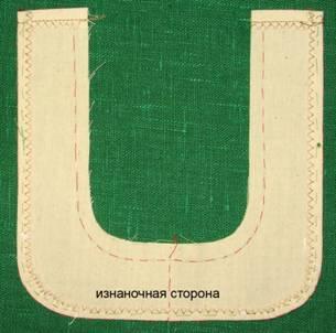 обтачка накладного кармана