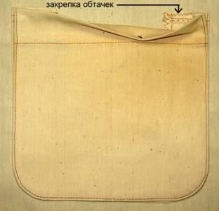По линии входа в карман прикрепить обтачки к изделию швом зигзаг