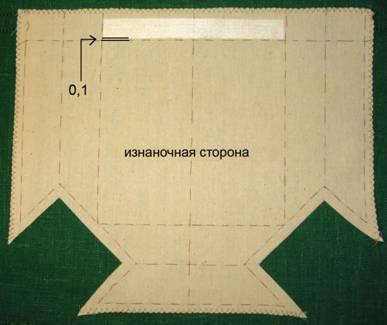 Пошив прямоугольного кармана «гармошка»