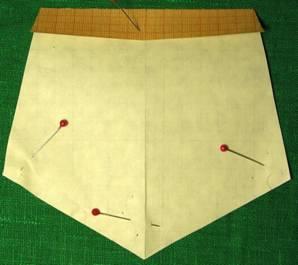 выкройка и пошив пятиугольного кармана