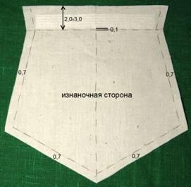 Пошив пятиугольного кармана