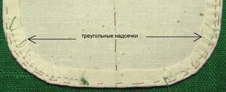 треугольные надсечки на закругленных уголках