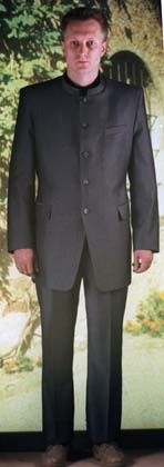 basic pattern men's suit