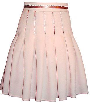 Как сшить юбку с бантовыми складками на поясе с молнией 57