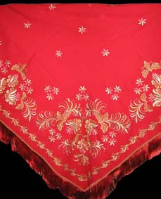 shawl gold embroidery