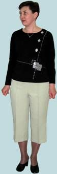basic pattern of women's trousers