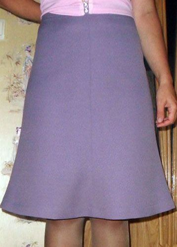 wedge skirt with a bell silhouette