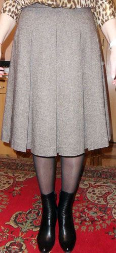 skirt with a circular pleat
