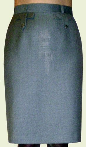 Skirt with back vent closed
