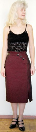 Skirt with integrally cut  belt