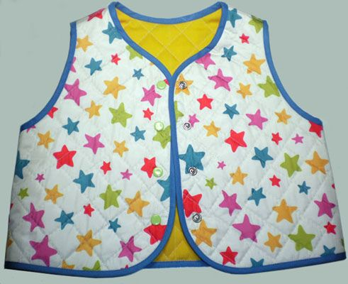 Children's double sided quilted vest