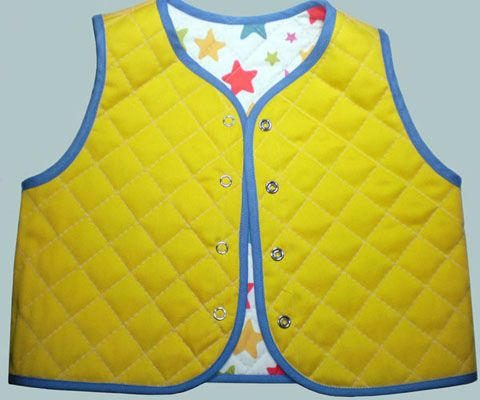 Quilted vest baby two-way