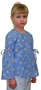 Blouse with set-in sleeves and draping on the fat Dormouse for girls how to learn remote training via Internet courses fit sewing