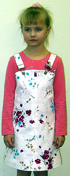 Dress in the waist straps for girls how to learn e-learning to cut and sew clothes