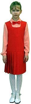 Dress with a skirt in a circular fold and a blouse with set-in sleeves for girls cut and sew e-learning through Internet courses