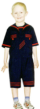 sailor suit and pants for a boy to learn how to cut and sew e-learning